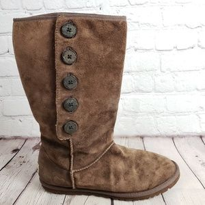 UGG Choco Brown Bailey Boots Womens 8 EU 39 Shoes